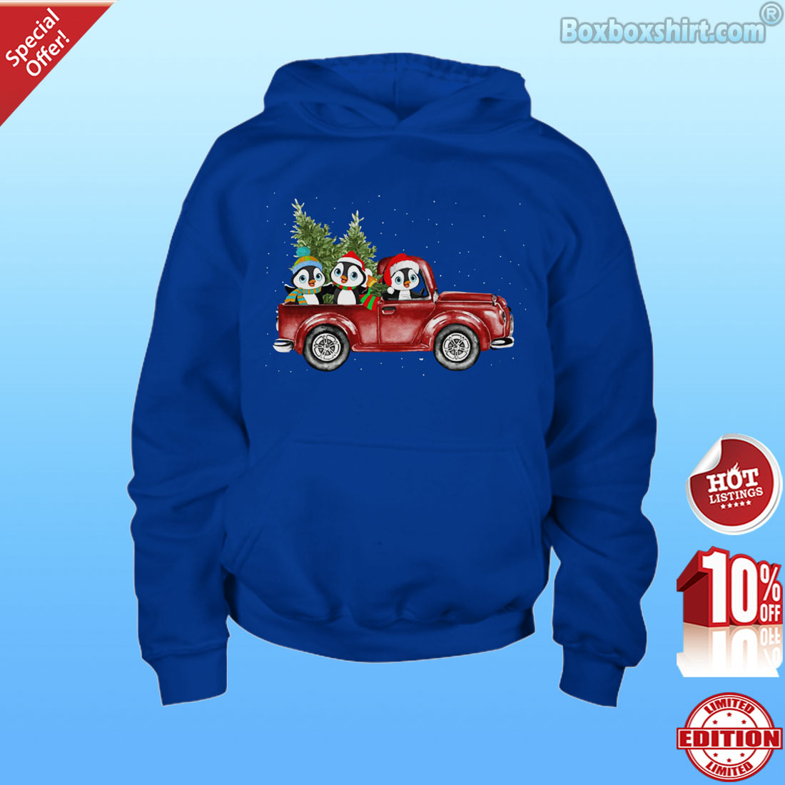 Christmas penguins drive car shirt