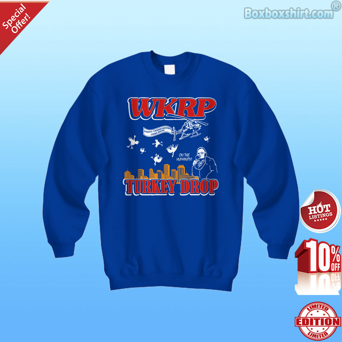 Happy thanksgiving from WKRP turkey drop shirt