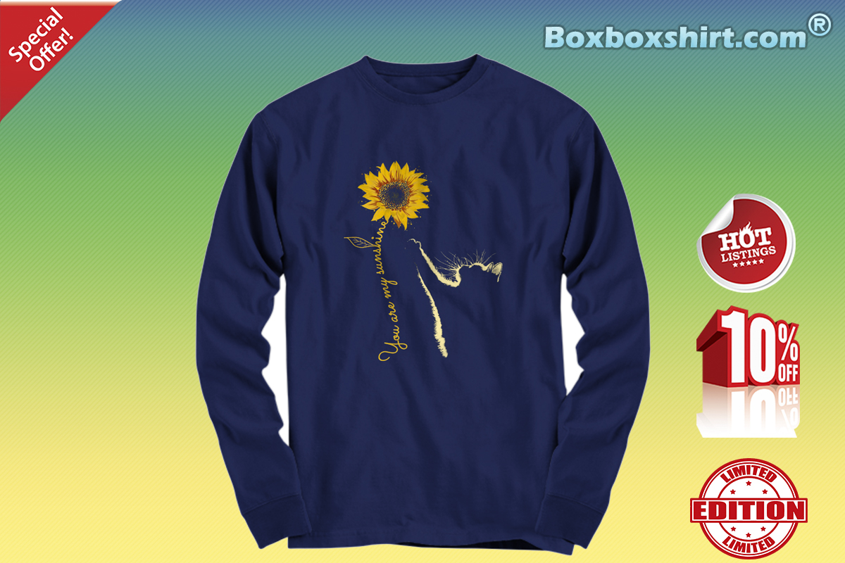 You are my sunshine sunflower cat Long sleeve tee