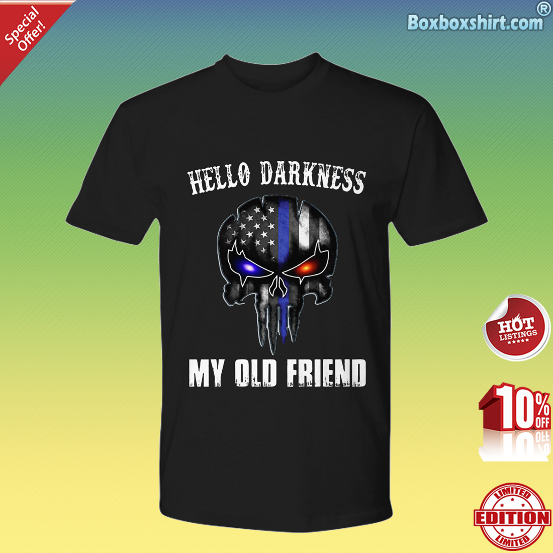 American skull hello darkness my old friend Premium Tee