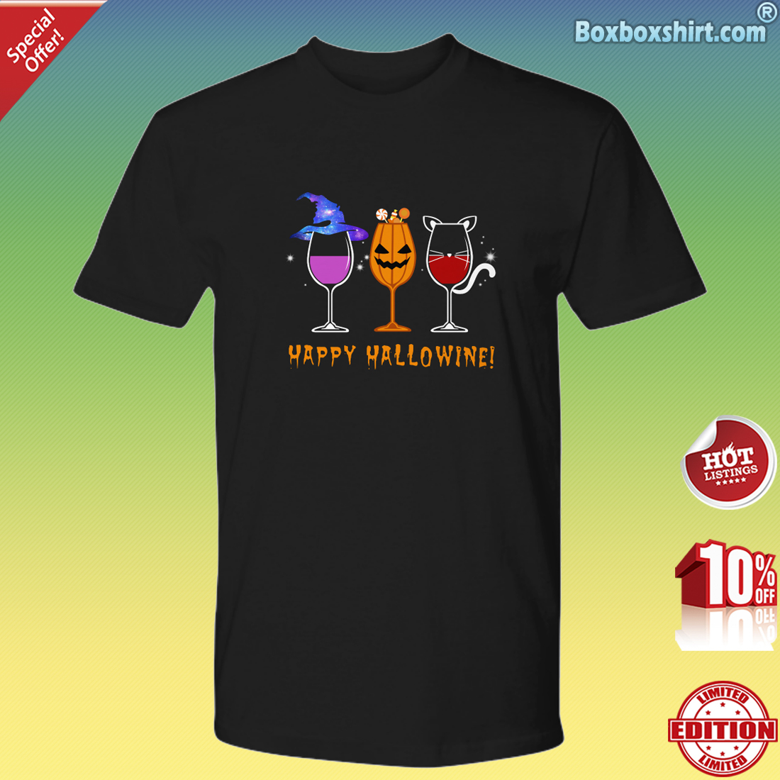 Happy Hallowine Premium Tee