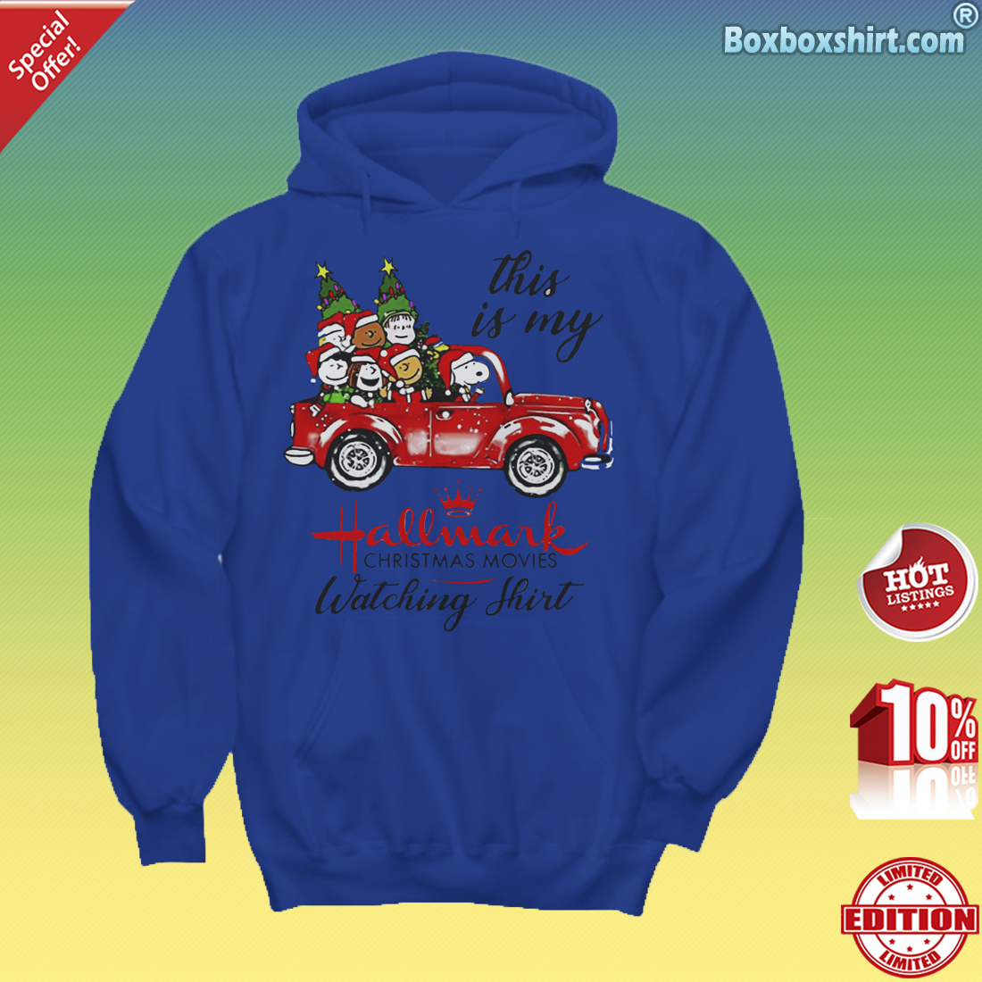 Snoopy and friend this is my Hallmark Christmas Movies-Hoddie
