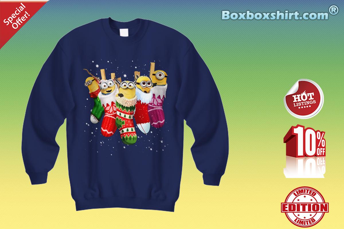 Minion in christmas socks Sweatshirt