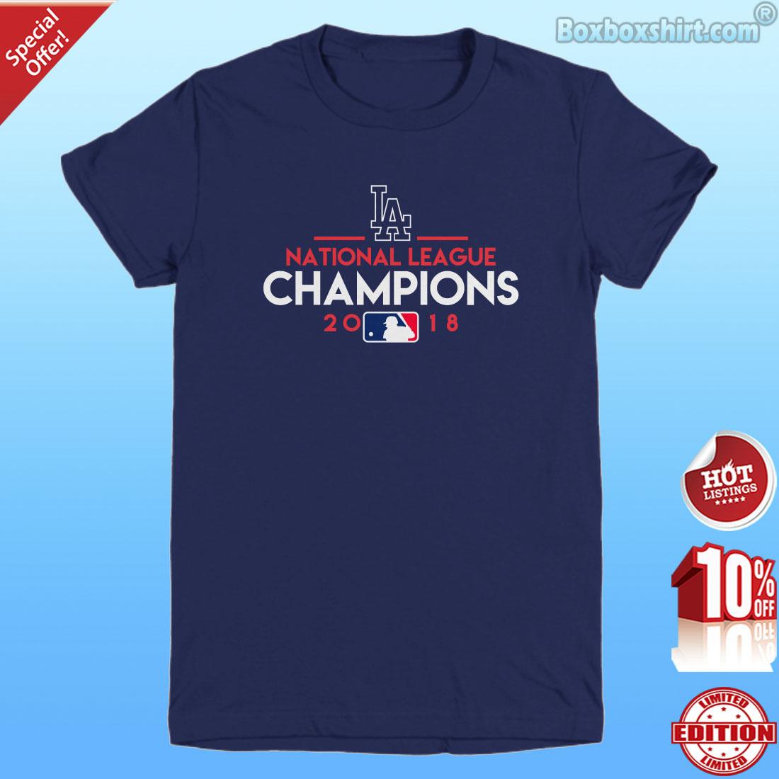 Team names of Los Angeles Dodgers baseball shirt
