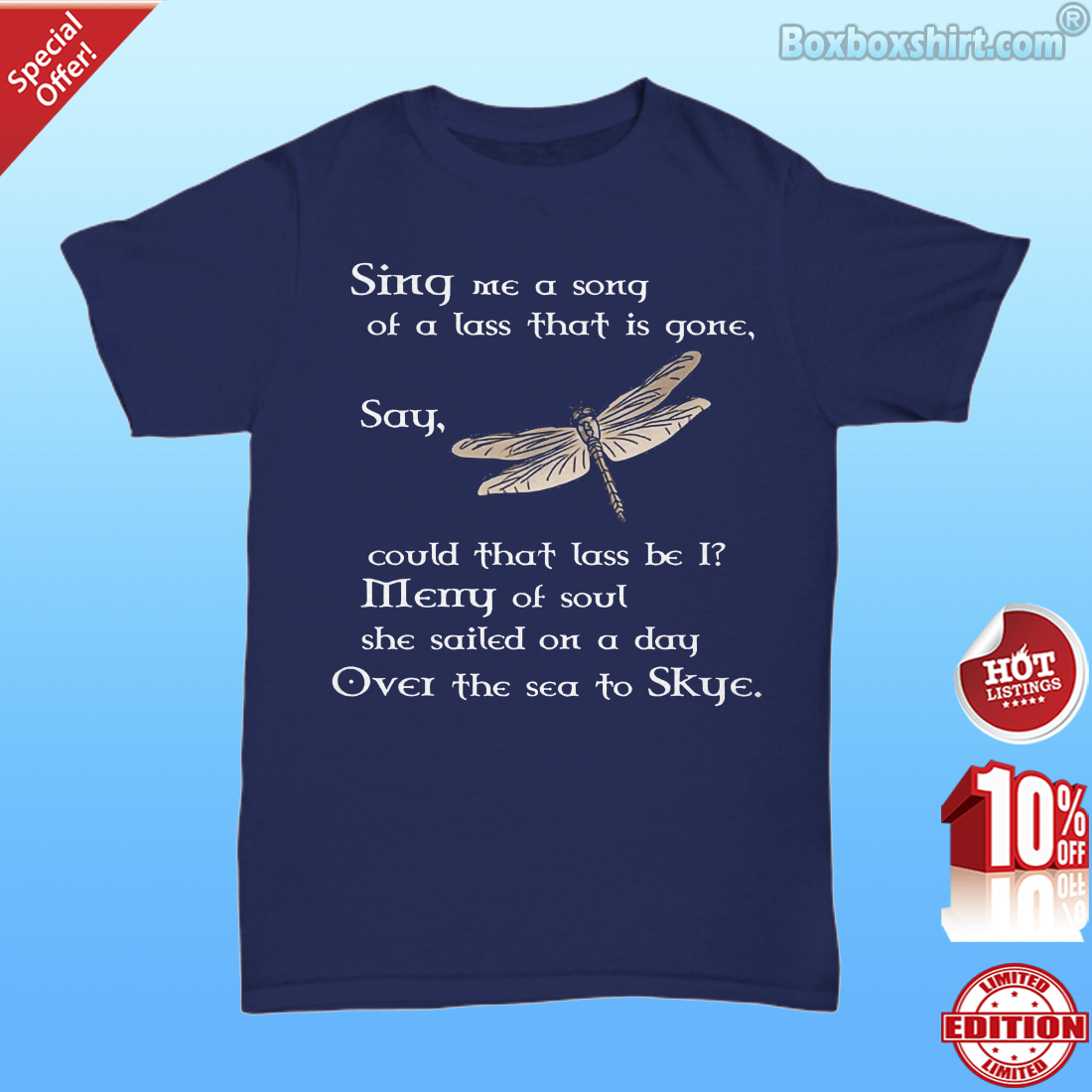 Butterfly sing me a song merry of soul over to skye Unisex Tee