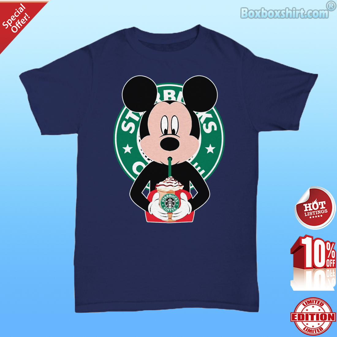 b1477ce96 Mickey mouse drinks starbucks coffee shirt, premium tee, unisex tee