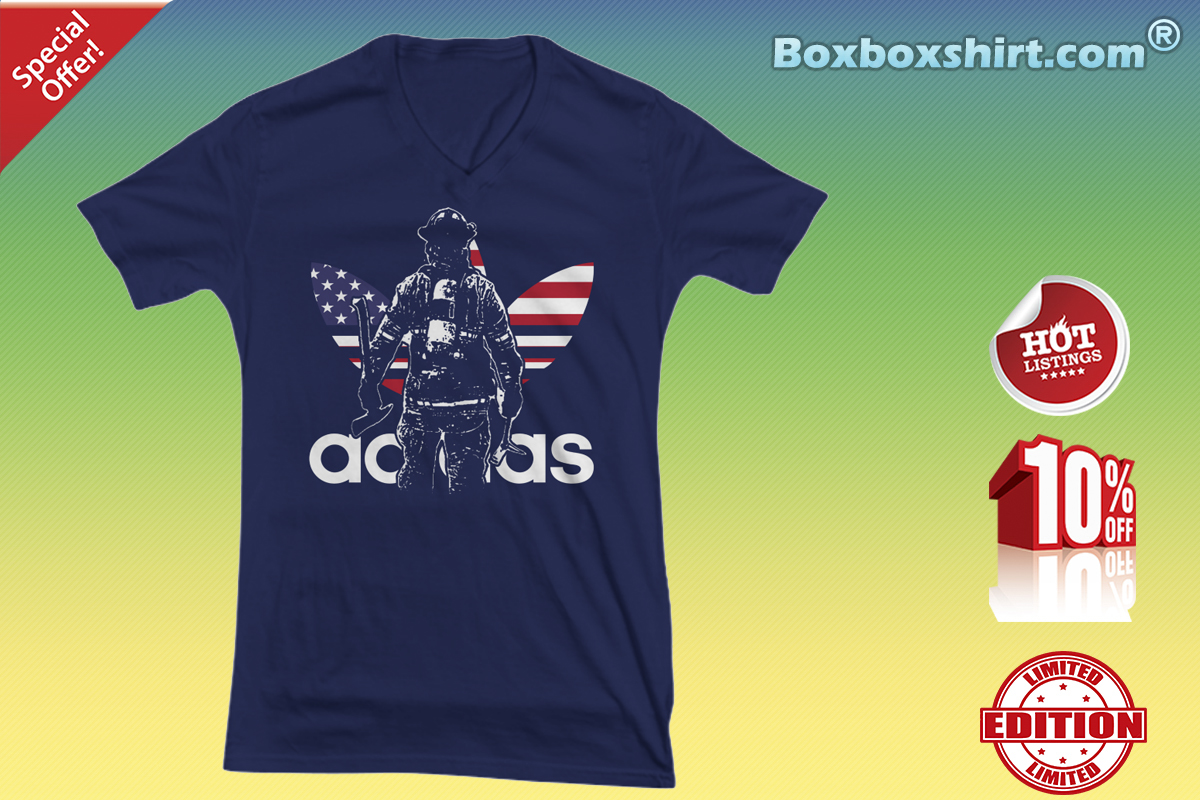 Firefighter adidas V-neck Tee