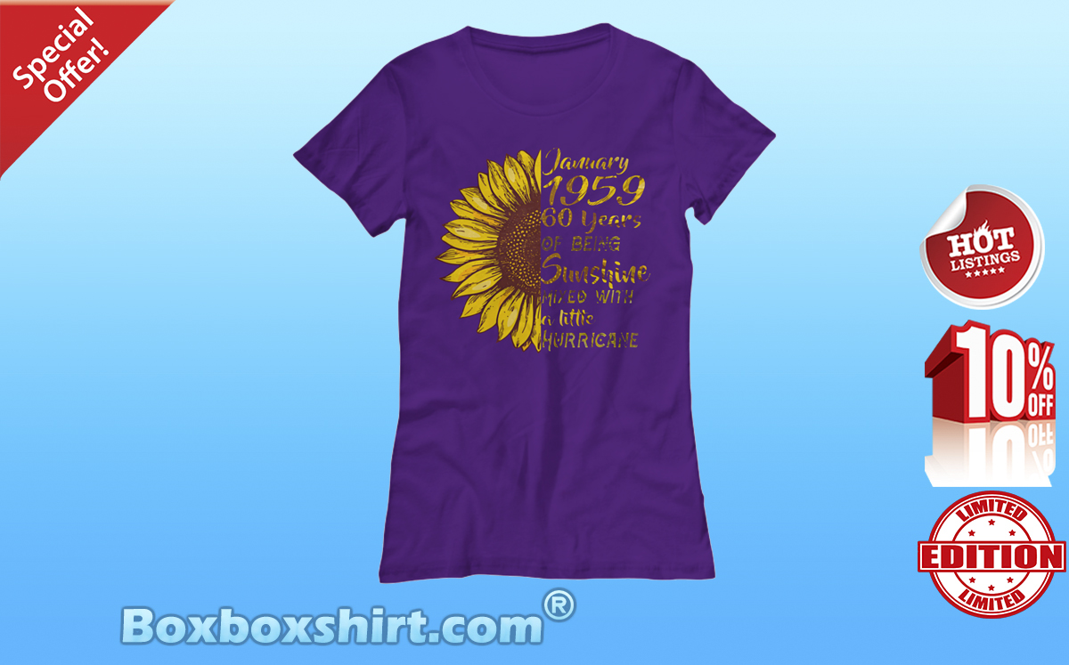 Sunflower January 1959 sunshine mixed with hurricane Women's Tee