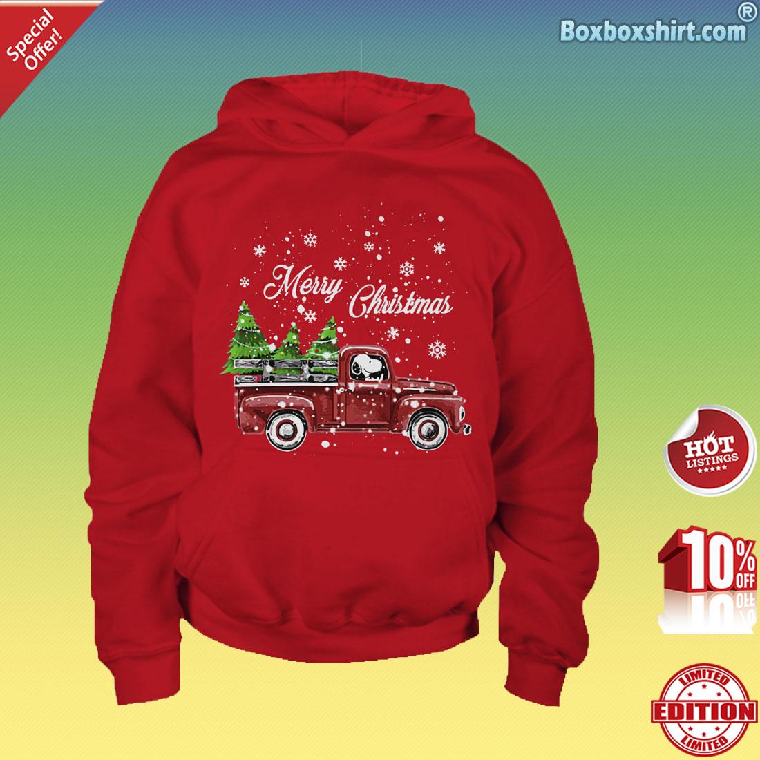 Merry Christmas snoopy drives car shirt