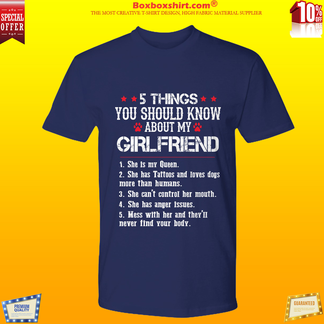 5 things you should know about my girlfriend shirt and hoodies