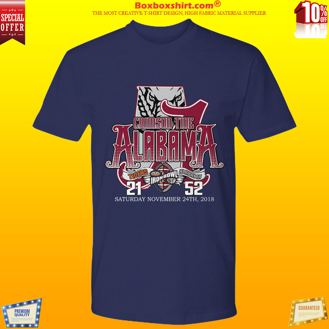 Alabama Crimson Tide and Auburn Tigers shirt