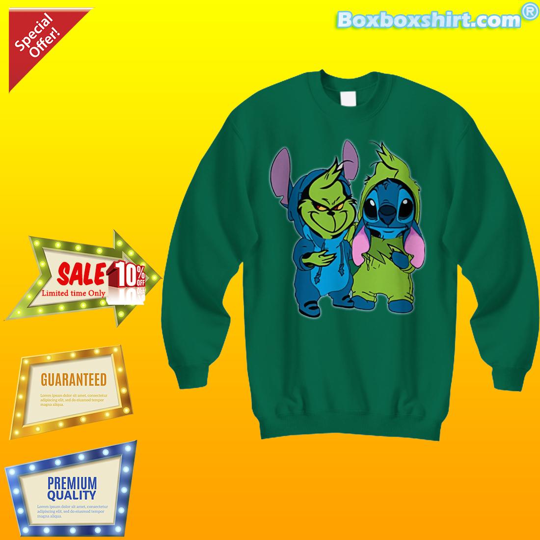 2160e54b6210 Baby Grinch Stitch shirt