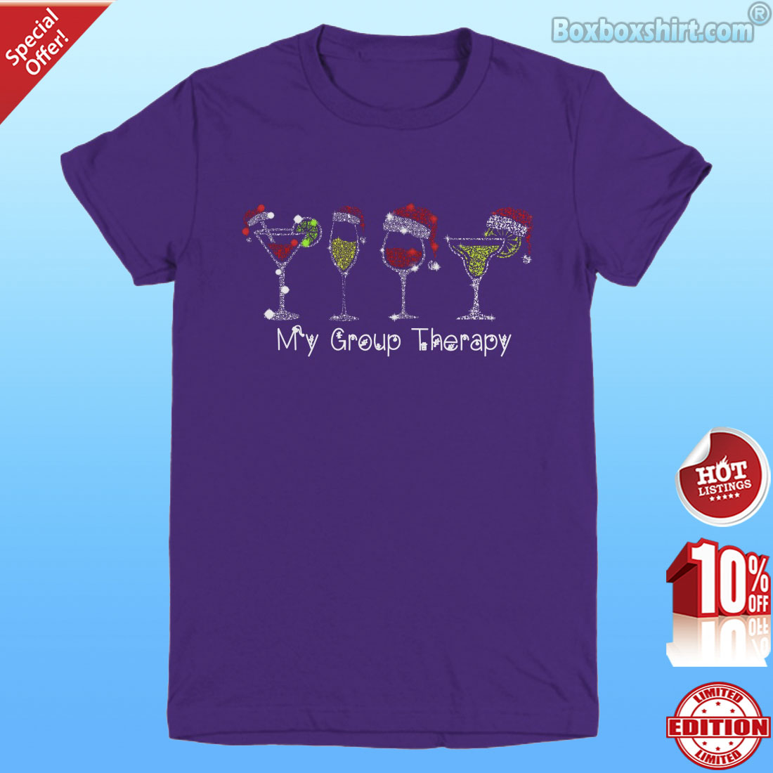 Christmas wines my group therapy shirt