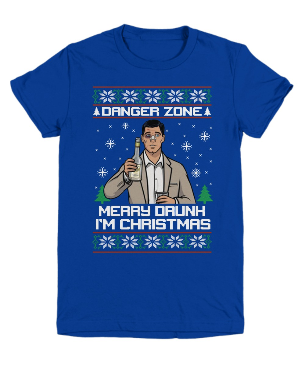 Danger zone Merry drunk I'm Christmas ugly Christmas sweater shirt