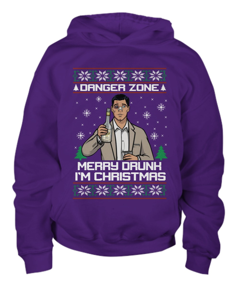 Danger zone Merry drunk I\'m Christmas ugly Christmas sweater shirt