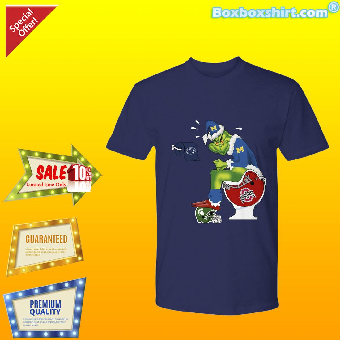 ab44f2cd7 Grinch santa on toilet NFL team logo shirt