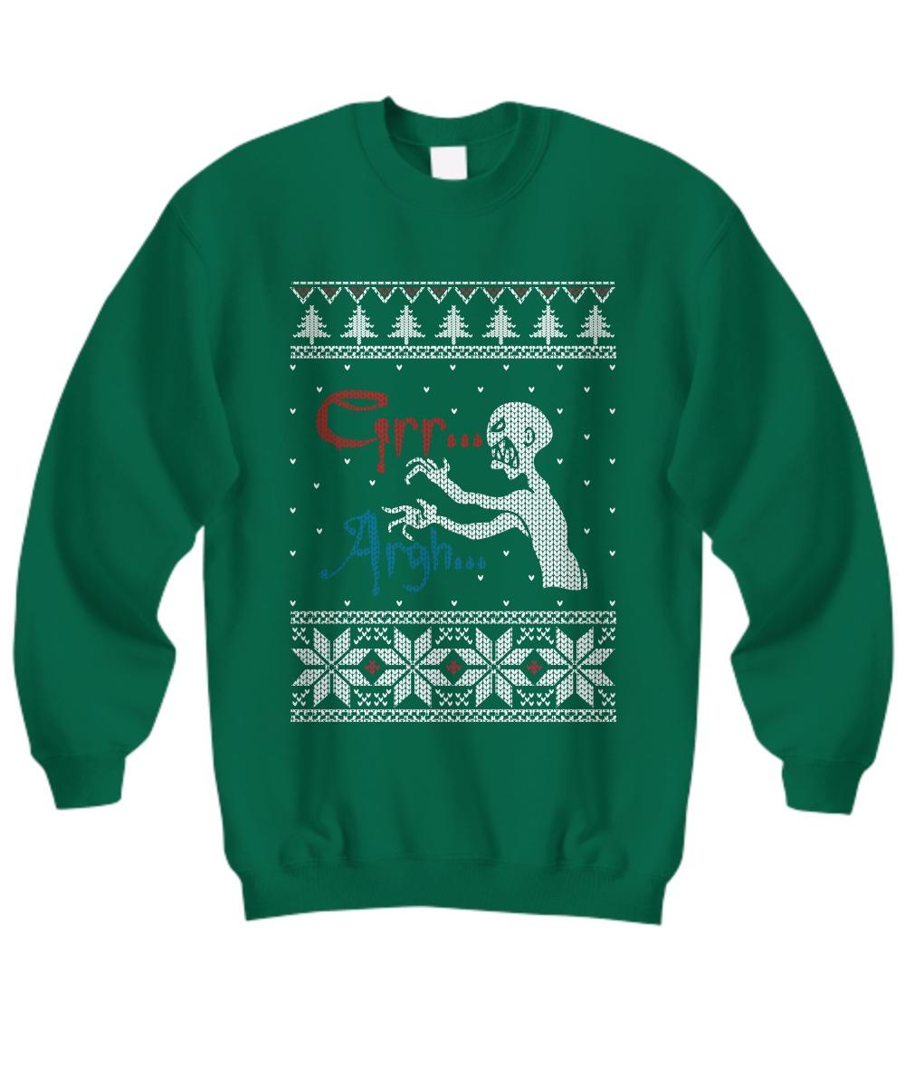 Grr Argh vampire monster ugly Christmas sweater shirt