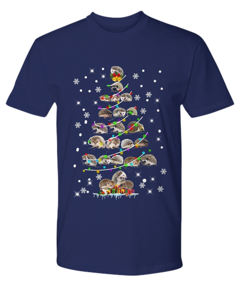 Hedgehog Christmas tree shirt