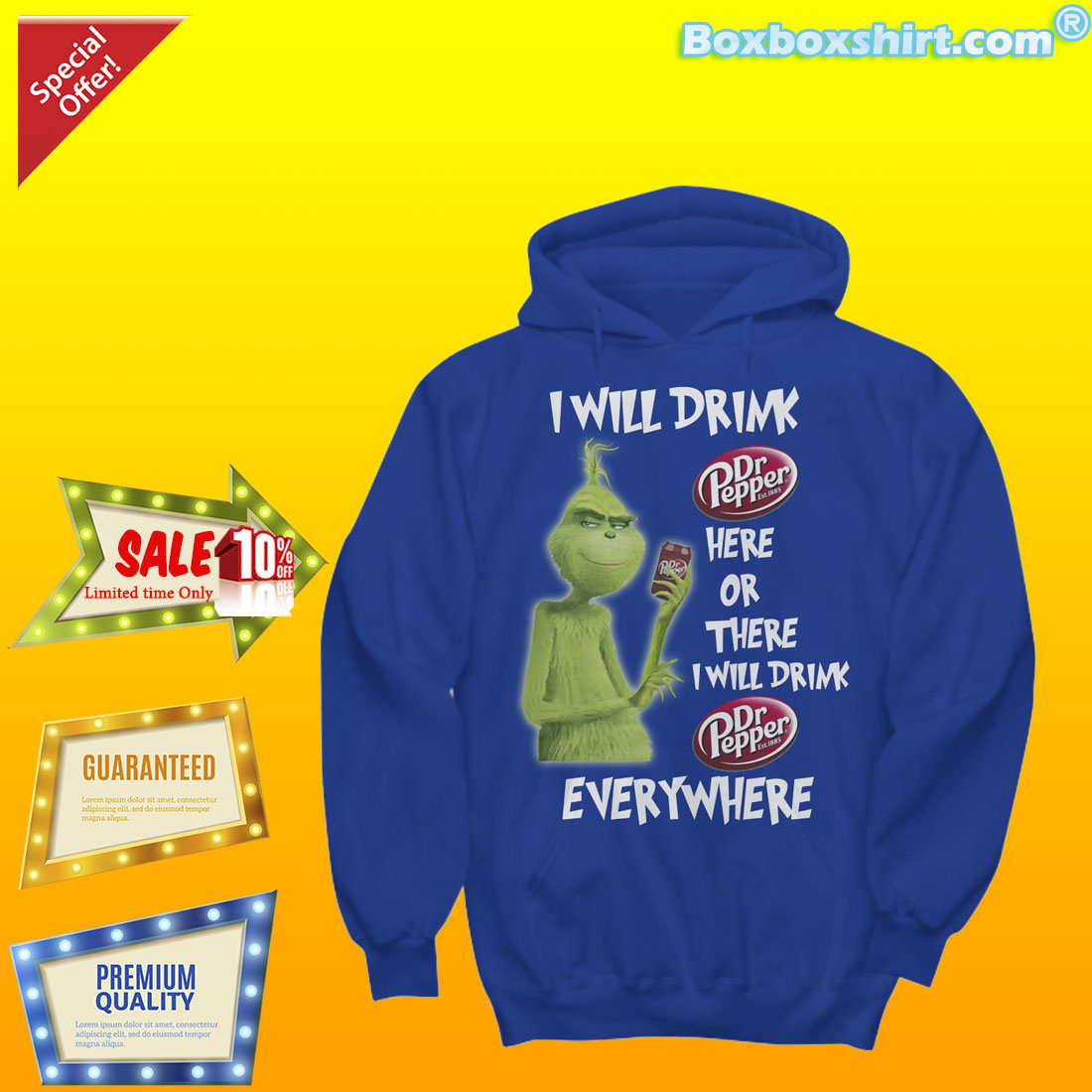 I will drink Dr Pepper here or there everywhere shirt