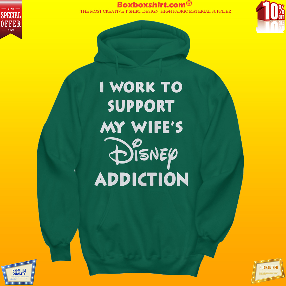 I work to support my wife Disney addiction shirt and hoodies
