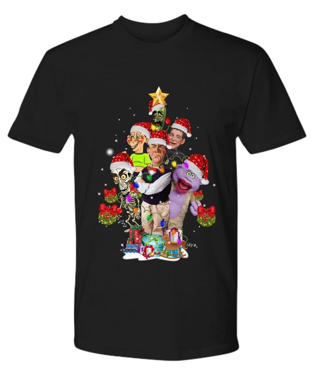 Jeff Dunham minding the monsters Christmas tree shirt