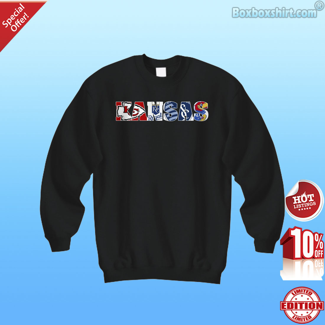Kansas all sports logo shirt