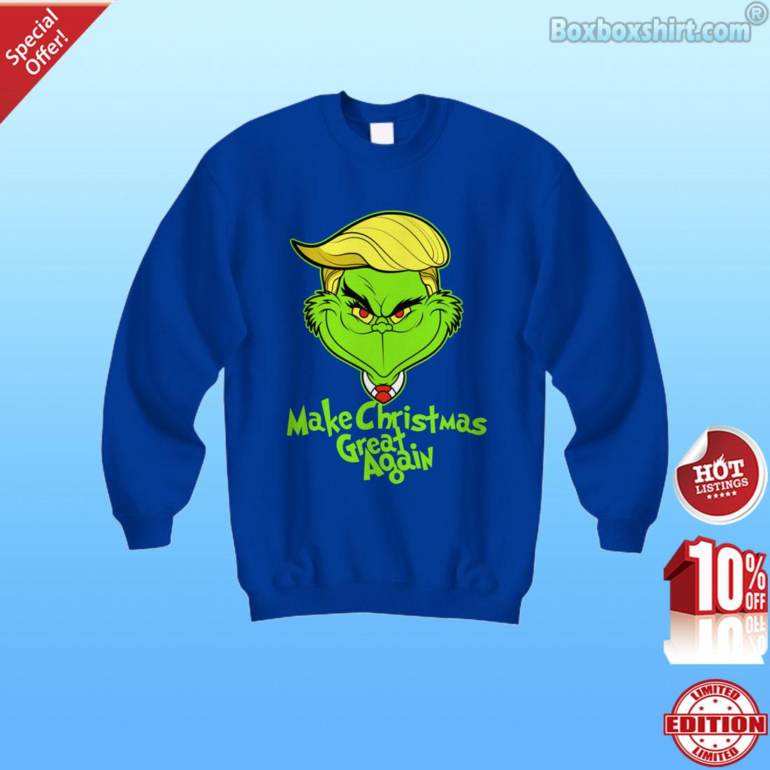 Make Christmas great again Grinch shirt