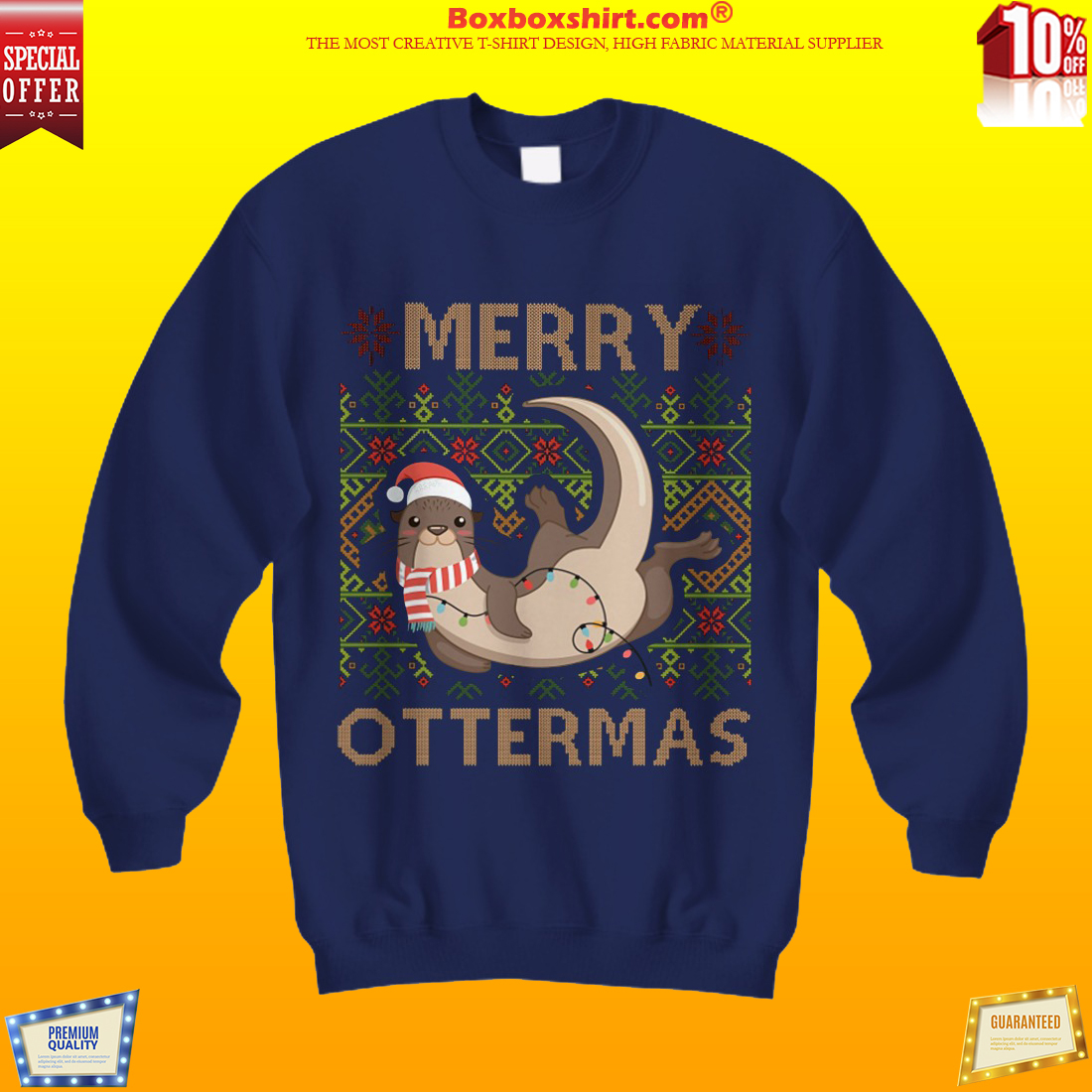 Merry Ottermas ugly Christmas sweater shirt