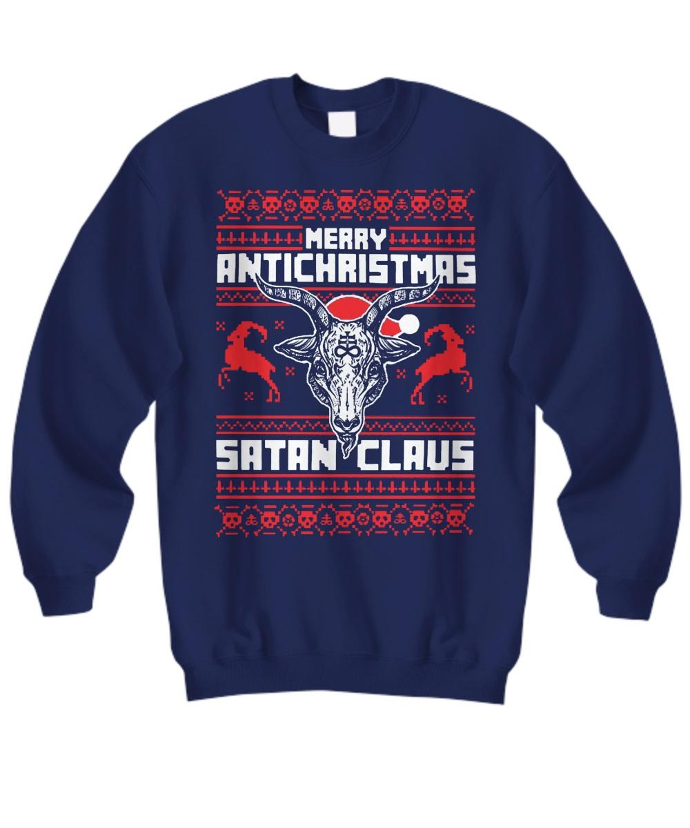 Merry antichristmas satan claus shirt
