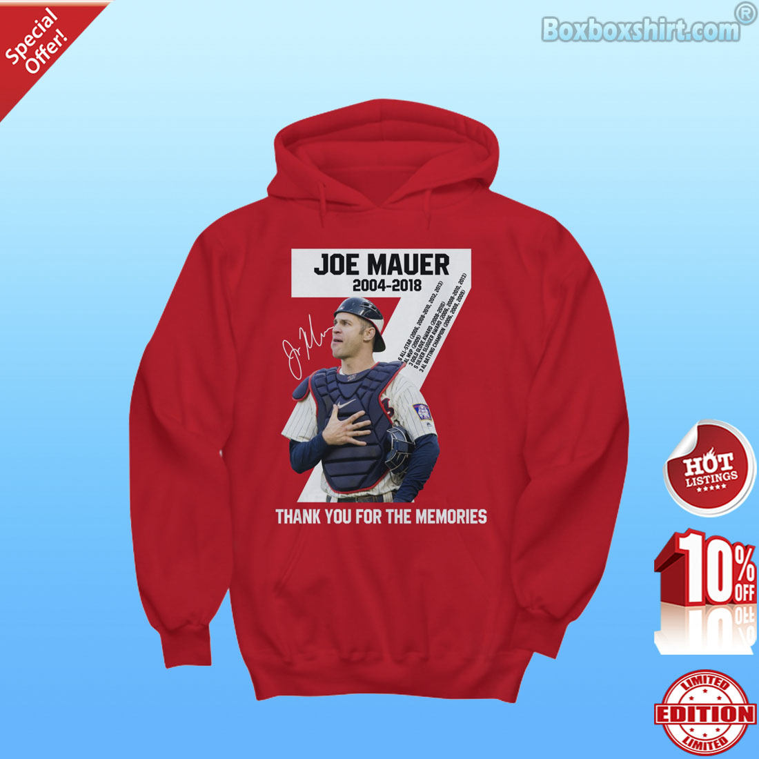 Minnesota Twins Joe Mauer retirement thank you for the memories shirt