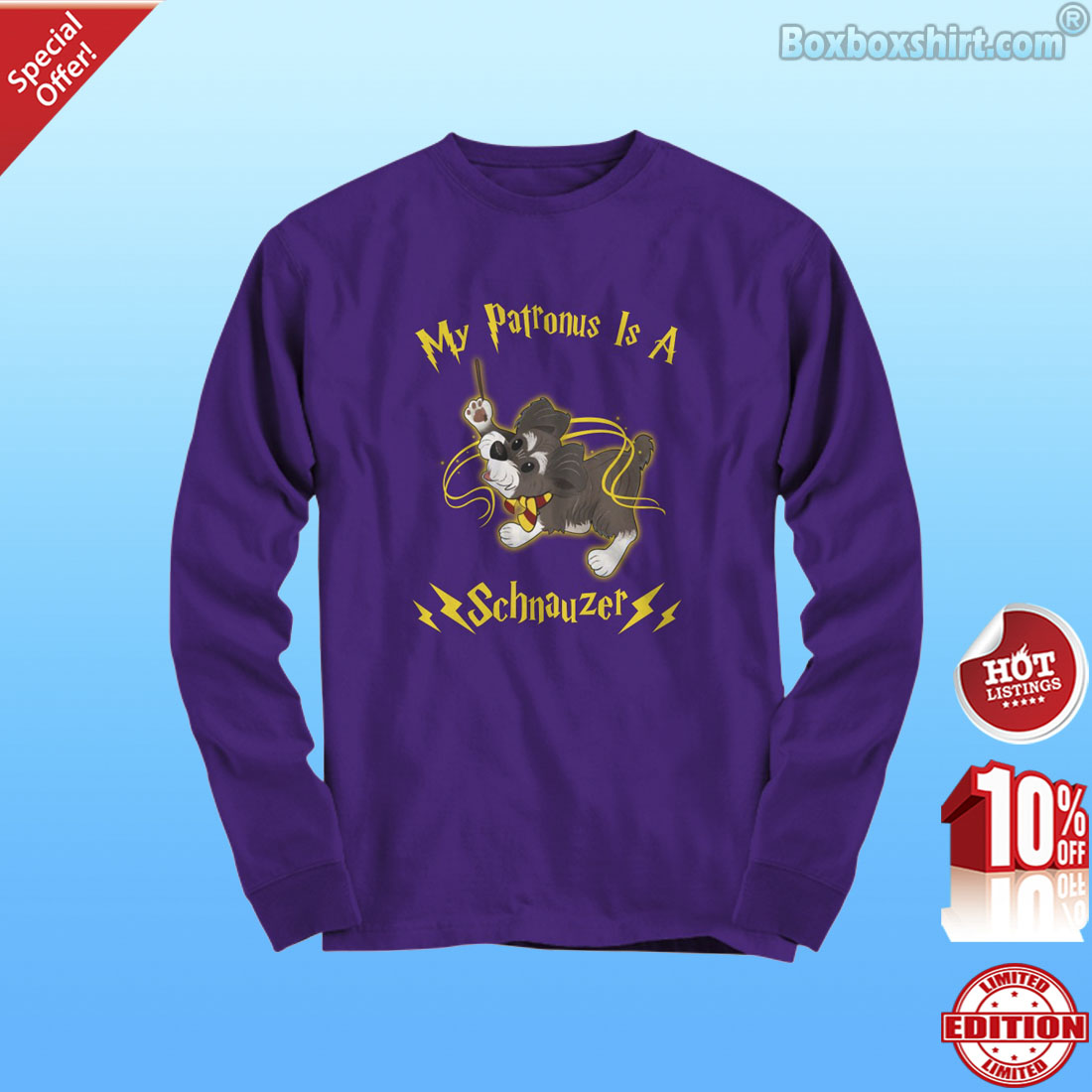 My patronus is a Schnauzer shirt