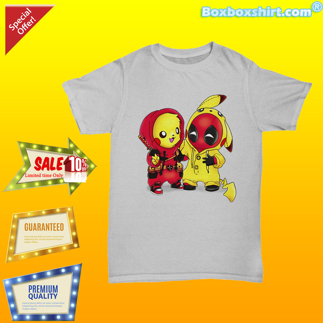 7fabc90c Pikapool Pikachu Pokemon and Deadpool Shirt - boxboxshirt's diary