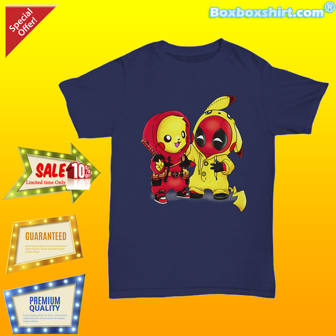 Pikachu deadpool pikapool shirt
