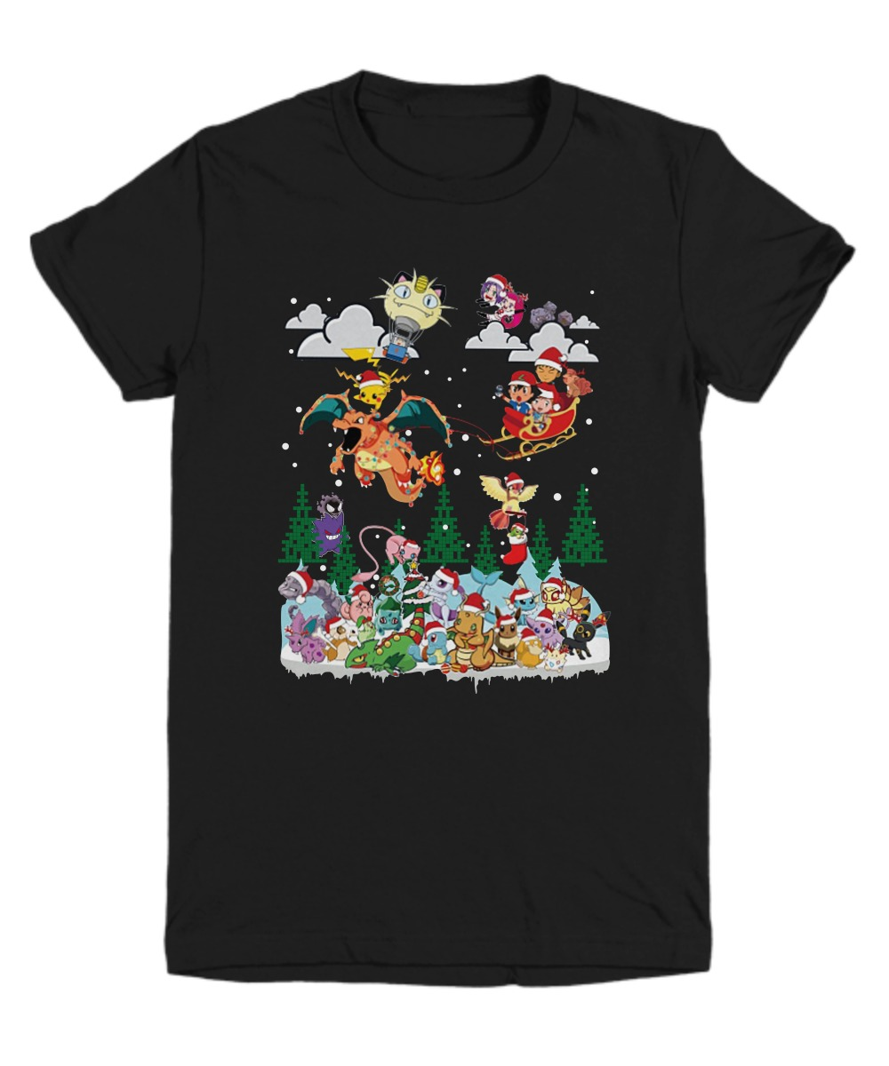 Pokemon Characters Christmas shirt