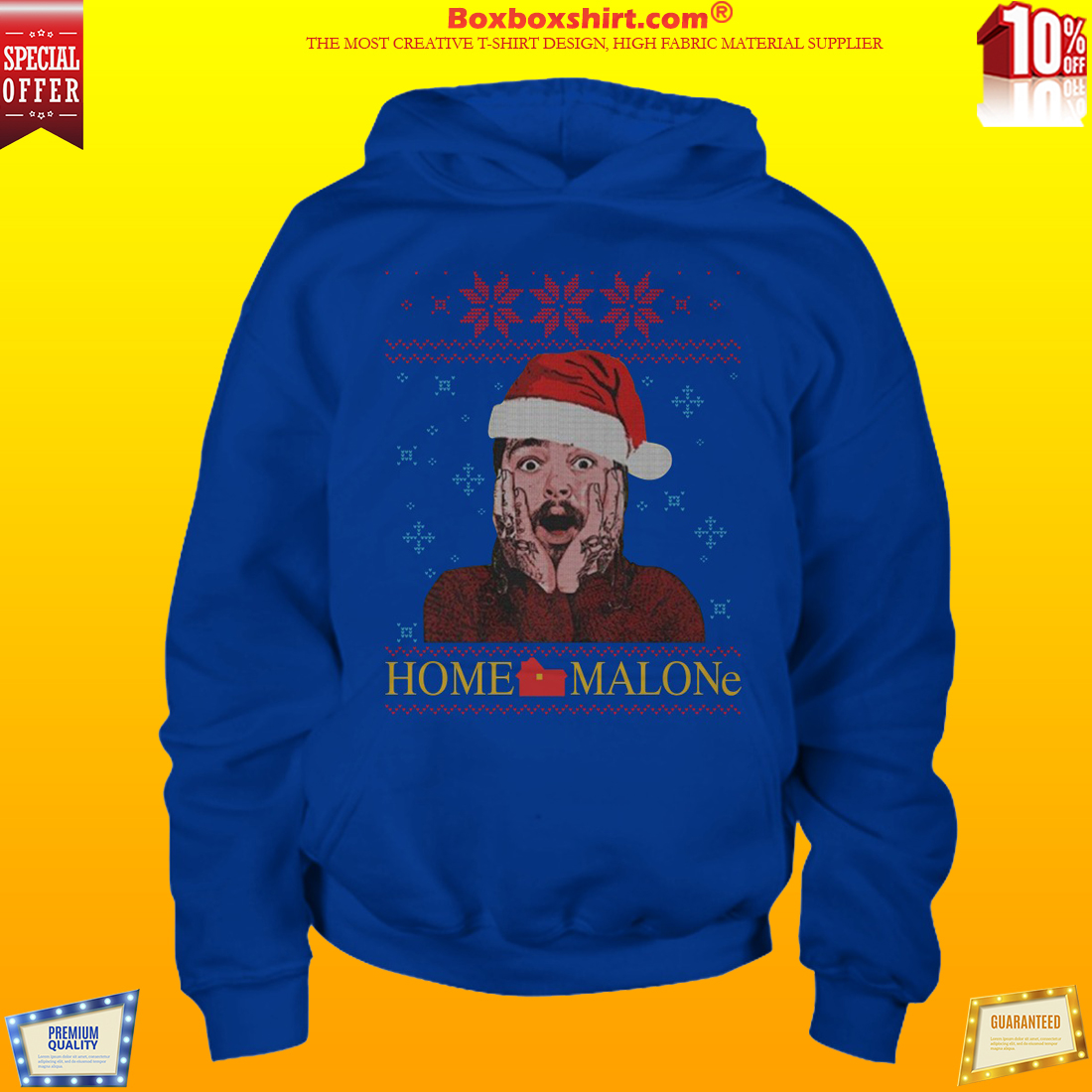 Post Malone home Malone ugly Christmas