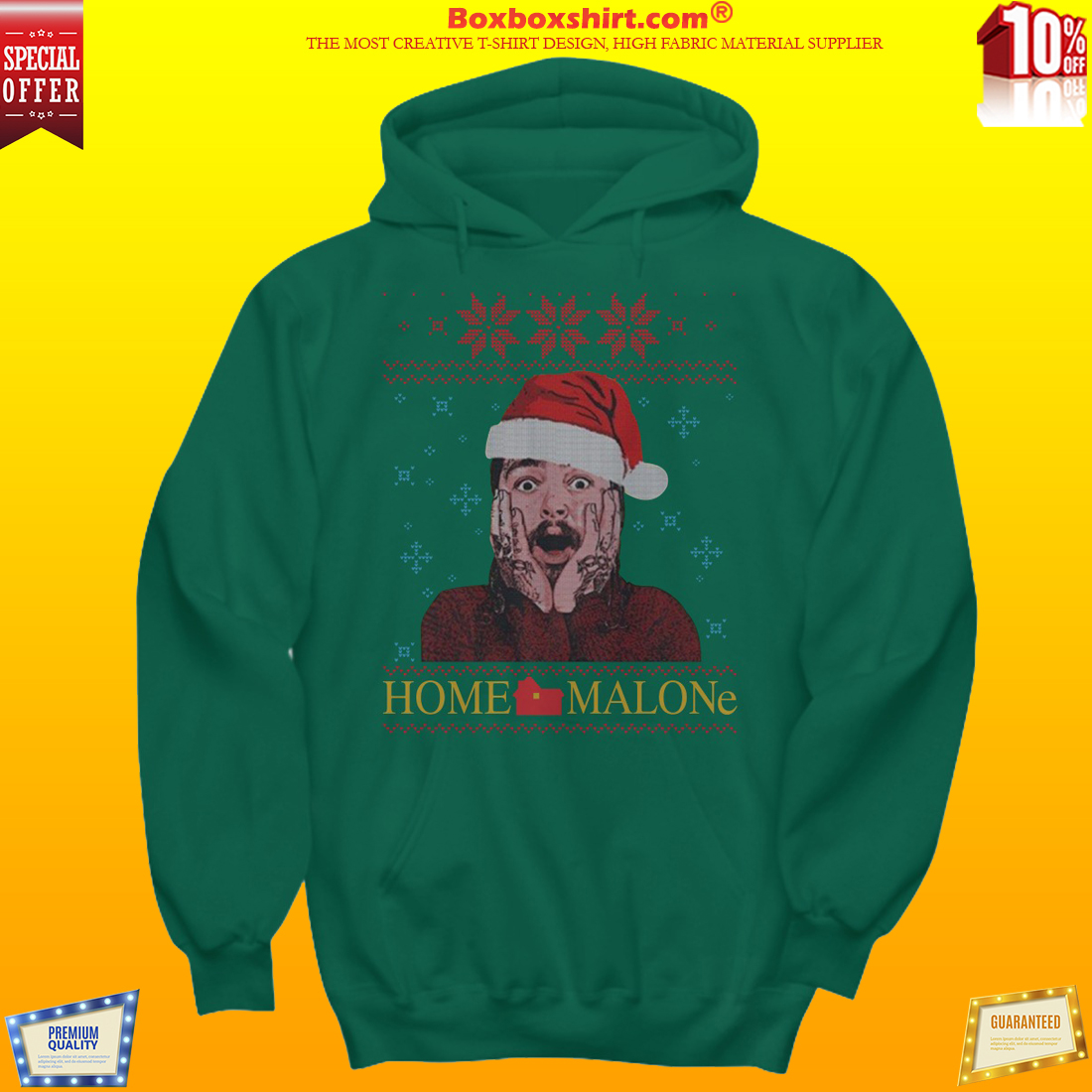 Post Malone home Malone ugly Christmas shirt