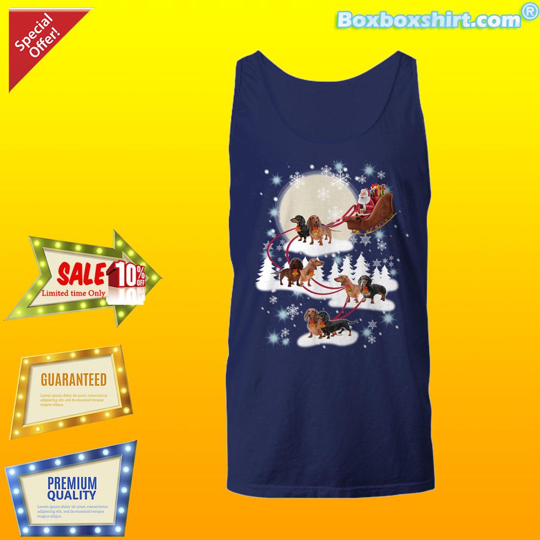 Santa riding Dachshund dog Christmas shirt