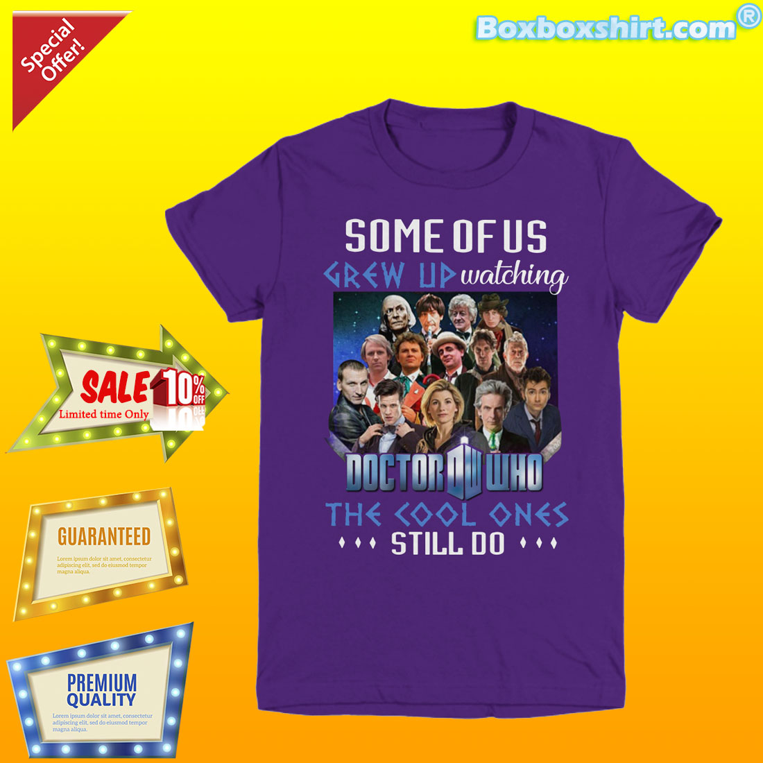 Some of us grew up watching doctor who the cool ones shirt