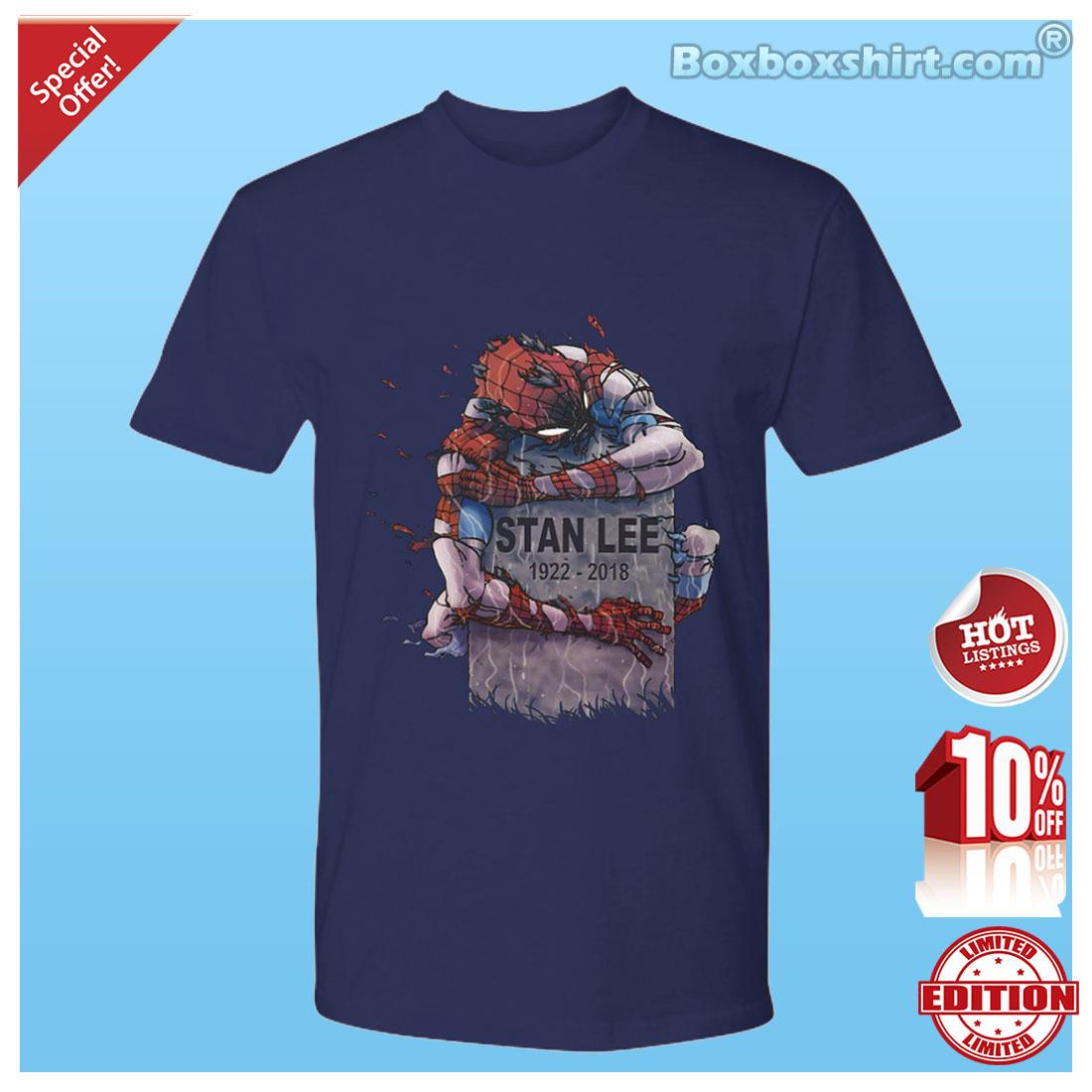 462a0342 Spider man hugging Stan Lee shirt and hoodie | Boxbox Branding ...