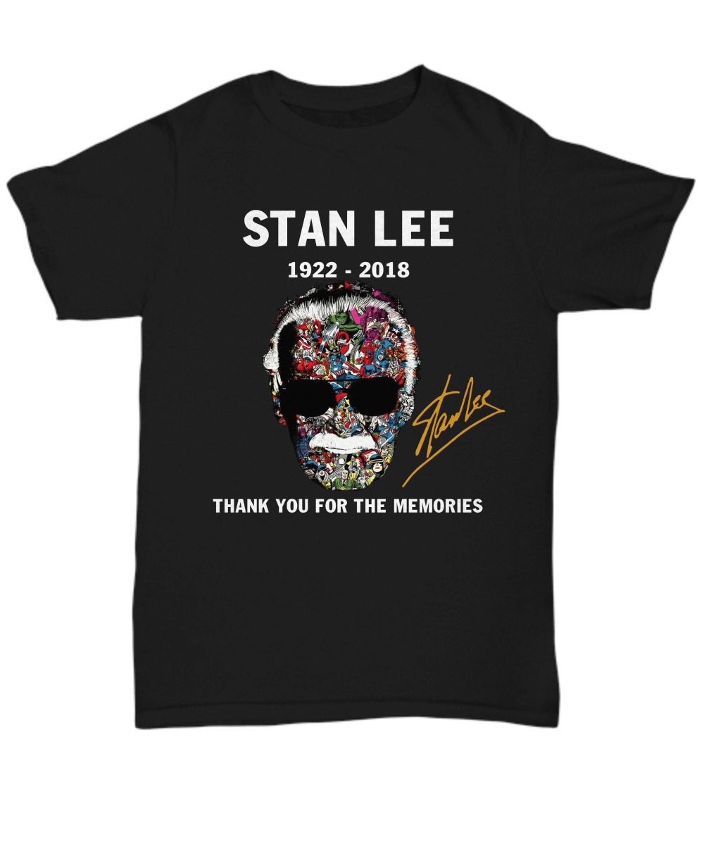 Stan Lee signature thank you for the memories shirt 2