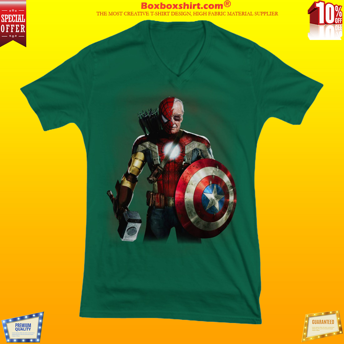 Stan Lee spider man captain american thor iron man shirt and hoodies