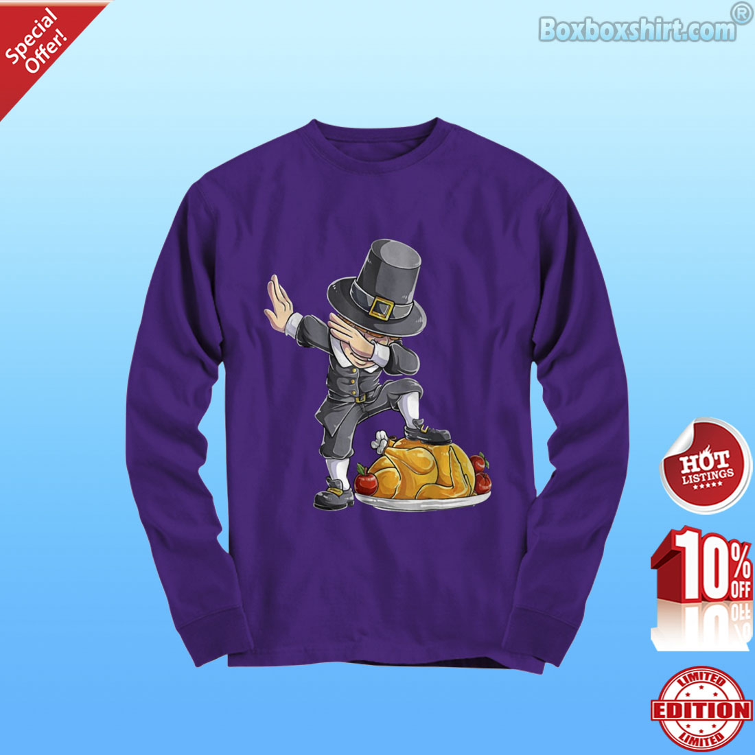 Thanksgiving Dabbing Pilgrim Turkey shirt