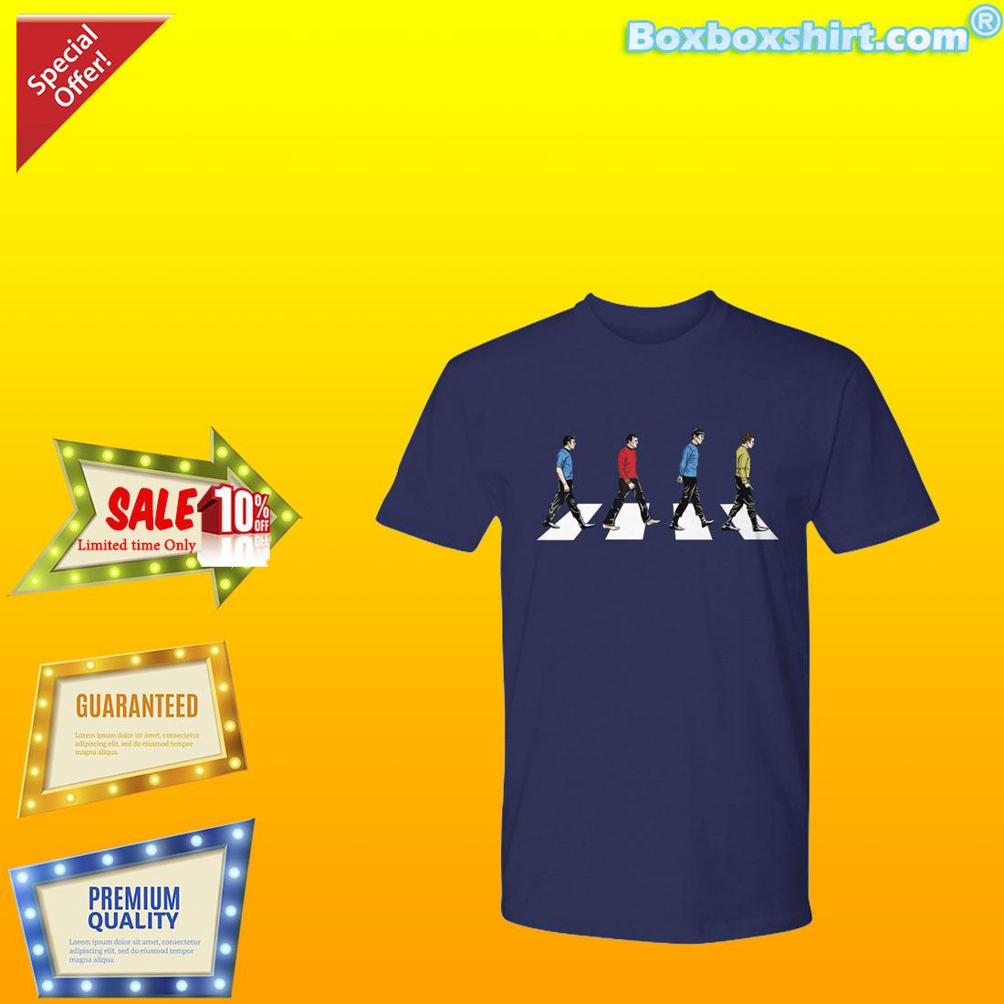 The beatles abbey road star trek shirt