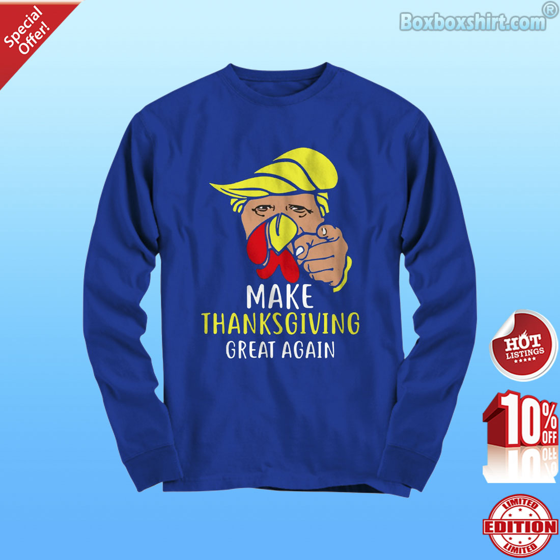 Trump turkey face make thanksgiving great again shirt