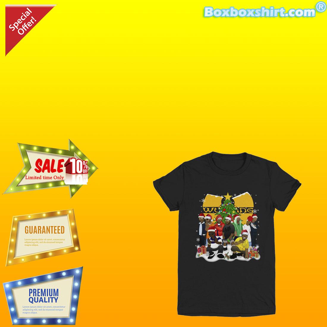 Wu Tang clan santa hat Christmas tree shirt