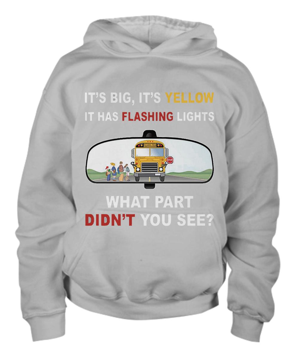 Drive school bus It's big, it's yellow it has flashing lights