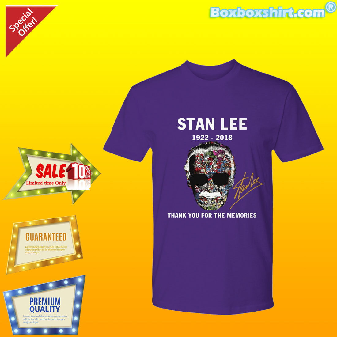 thank you for memories Stan Lee signature shirt