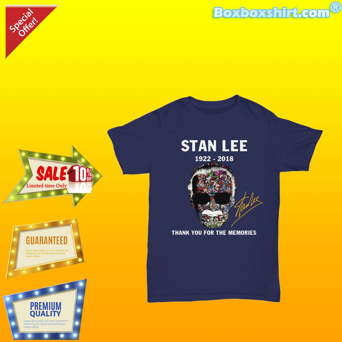 e8b4035b thank you for memories Stan Lee signature shirt and premium tee