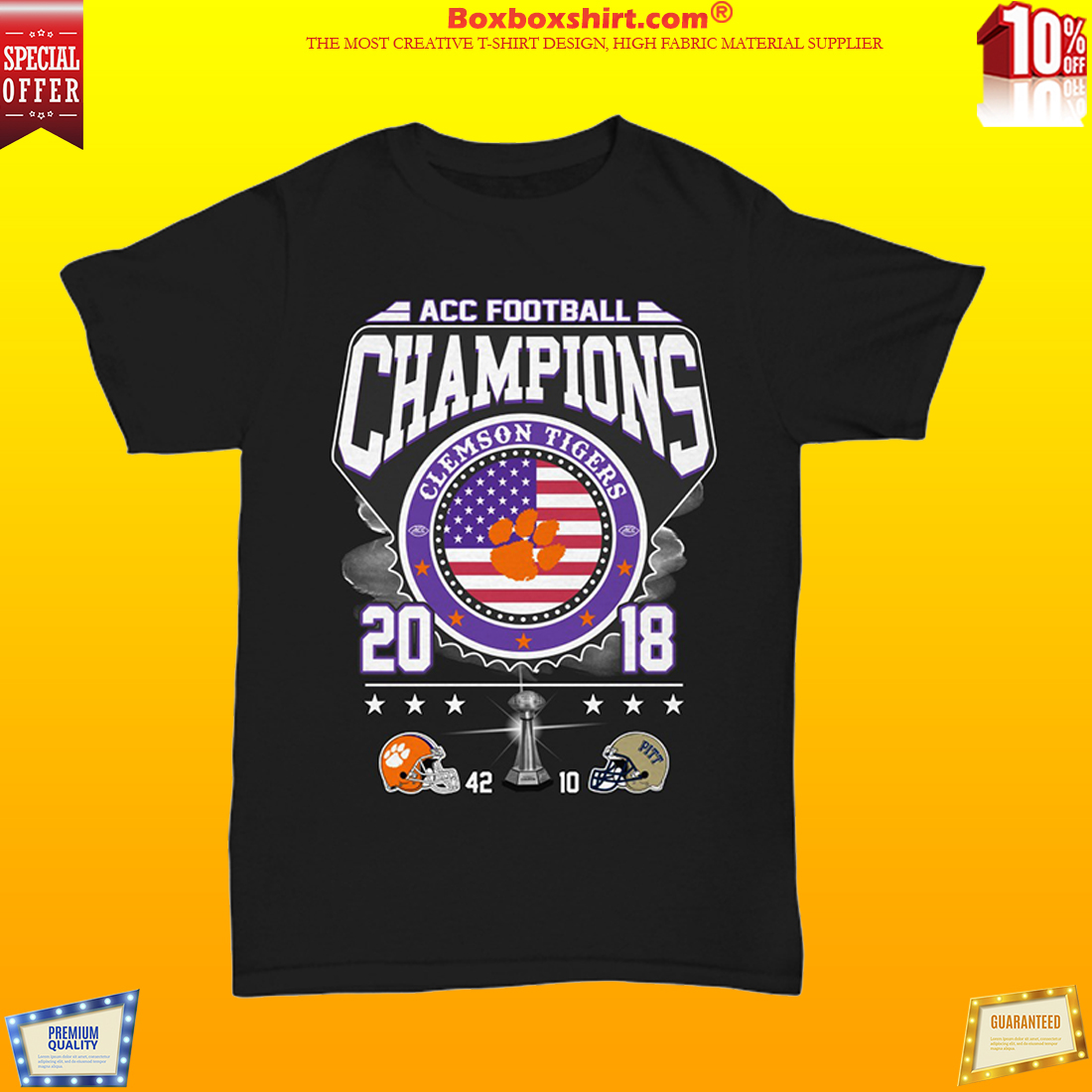 ACC football champion Clemson tigers shirt
