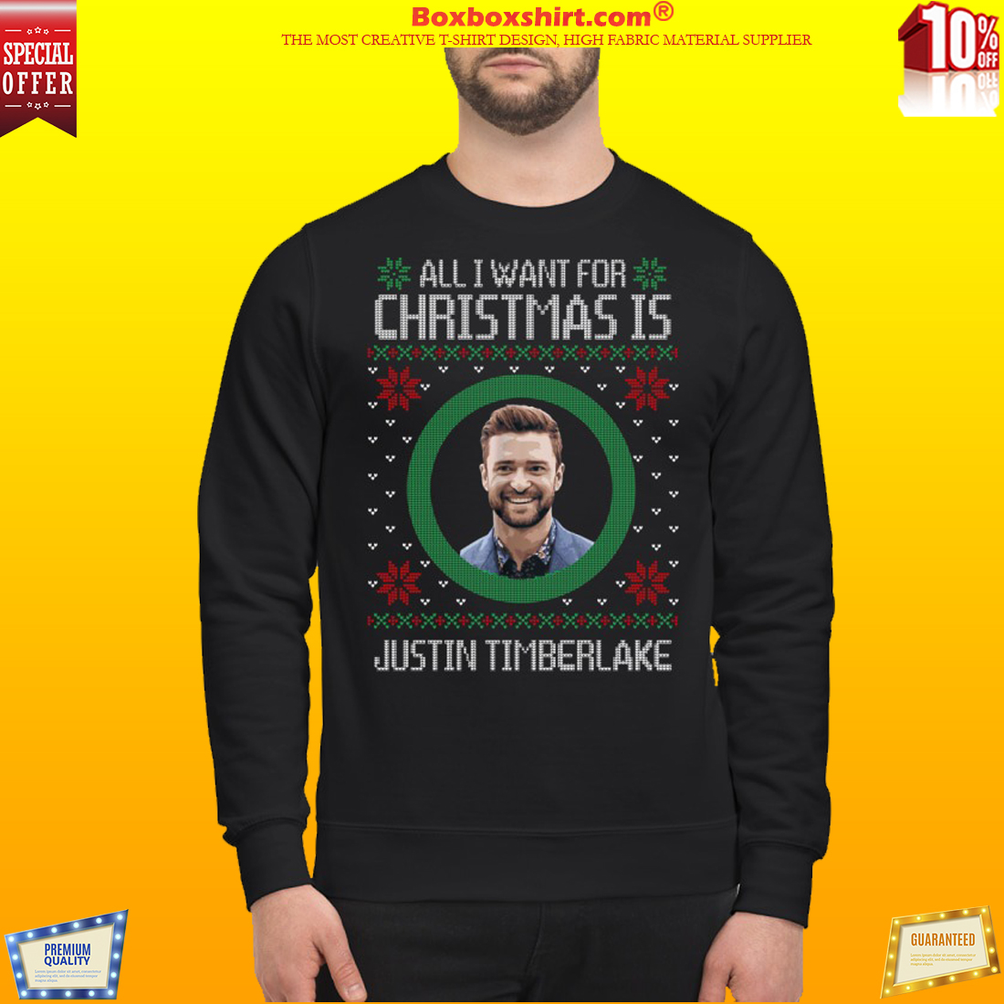 All I want for Christmas is Justin Timberlake sweatshirt